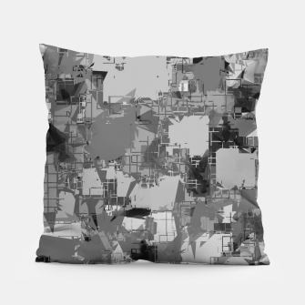 Thumbnail image of splash geometric abstract in black and white Pillow, Live Heroes