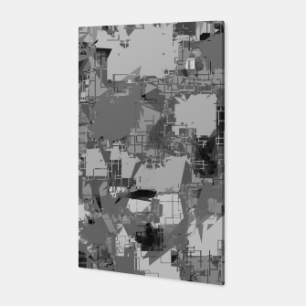Thumbnail image of splash geometric abstract in black and white Canvas, Live Heroes