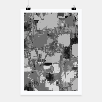 Thumbnail image of splash geometric abstract in black and white Poster, Live Heroes