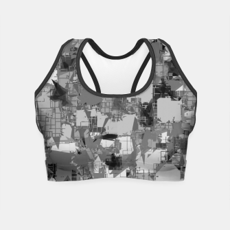 Thumbnail image of splash geometric abstract in black and white Crop Top, Live Heroes