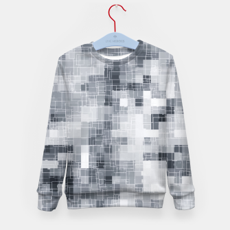 Miniaturka geometric square pixel pattern abstract in black and white Kid's sweater, Live Heroes