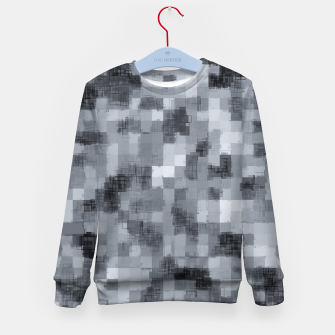 Miniaturka geometric square pattern abstract background in black and white Kid's sweater, Live Heroes