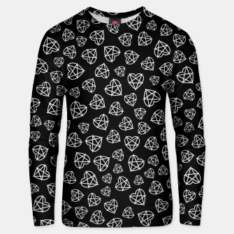 Wicked Love Pentagram Heart Unisex sweater thumbnail image