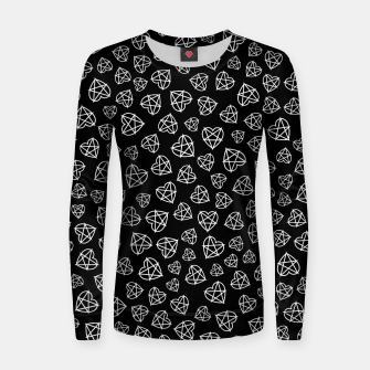 Thumbnail image of Wicked Love Pentagram Heart Women sweater, Live Heroes