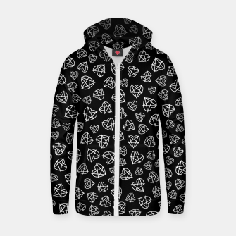 Thumbnail image of Wicked Love Pentagram Heart Zip up hoodie, Live Heroes