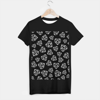 Thumbnail image of Wicked Love Pentagram Heart T-shirt regular, Live Heroes