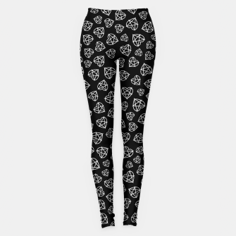 Thumbnail image of Wicked Love Pentagram Heart Leggings, Live Heroes