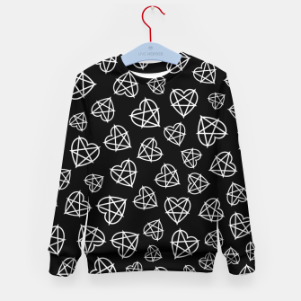 Thumbnail image of Wicked Love Pentagram Heart Kid's sweater, Live Heroes