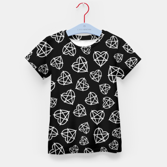 Thumbnail image of Wicked Love Pentagram Heart Kid's t-shirt, Live Heroes