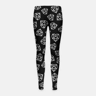 Thumbnail image of Wicked Love Pentagram Heart Girl's leggings, Live Heroes