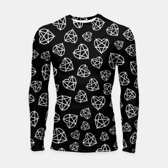 Thumbnail image of Wicked Love Pentagram Heart Longsleeve rashguard , Live Heroes