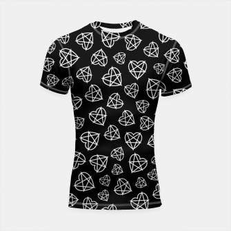 Thumbnail image of Wicked Love Pentagram Heart Shortsleeve rashguard, Live Heroes