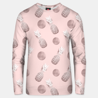 Thumbnail image of Pineapple Pattern with Happy Polka Dots #1 #decor #art  Unisex sweatshirt, Live Heroes