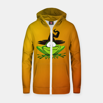 Thumbnail image of Witch Frog Zip up hoodie, Live Heroes