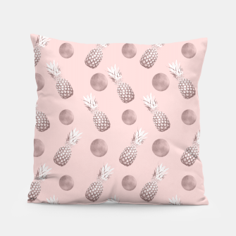 Thumbnail image of Pineapple Pattern with Happy Polka Dots #1 #decor #art  Kissen, Live Heroes