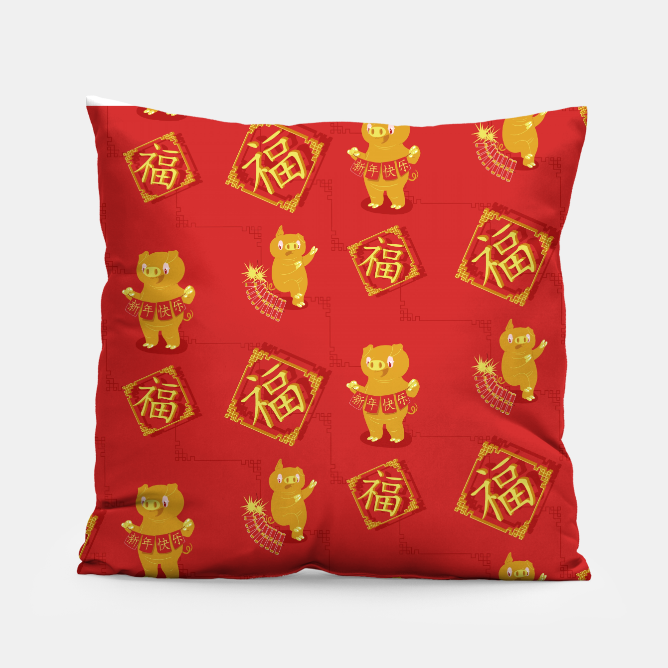Image of Year of the PIg Pillow - Live Heroes