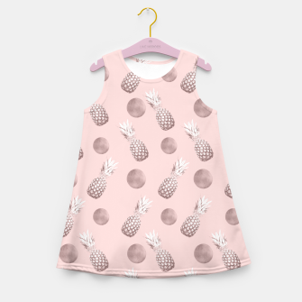 Thumbnail image of Pineapple Pattern with Happy Polka Dots #1 #decor #art  Mädchen-Sommerkleid, Live Heroes
