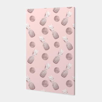 Thumbnail image of Pineapple Pattern with Happy Polka Dots #1 #decor #art  Canvas, Live Heroes