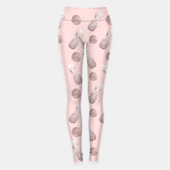 Thumbnail image of Pineapple Pattern with Happy Polka Dots #1 #decor #art  Leggings, Live Heroes