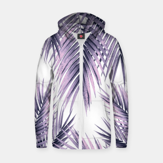 Thumbnail image of Palm Leaf Jungle Vibes #1 #tropical #decor #art  Reißverschluss kapuzenpullover, Live Heroes