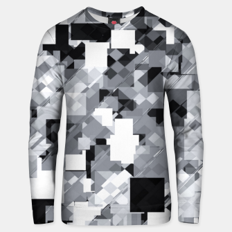 Miniaturka geometric square pixel pattern abstract in black and white Unisex sweater, Live Heroes
