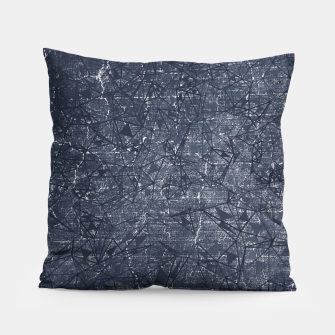 Thumbnail image of geometric abstract background in black and white Pillow, Live Heroes