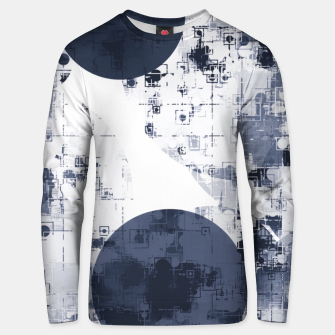 Miniaturka geometric circle pattern abstract background in black and white Unisex sweater, Live Heroes