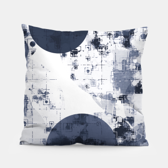 Thumbnail image of geometric circle pattern abstract background in black and white Pillow, Live Heroes