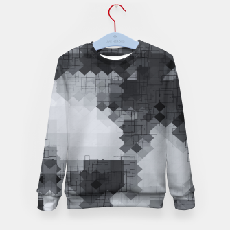 Miniaturka geometric square pixel pattern abstract background in black and white Kid's sweater, Live Heroes