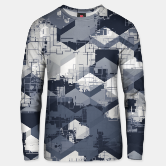Miniaturka geometric square pattern abstract in black and white Unisex sweater, Live Heroes
