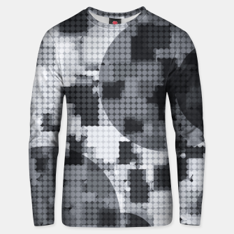 Miniaturka geometric circle pattern abstract in black and white Unisex sweater, Live Heroes