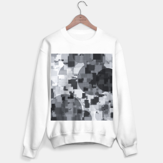 Thumbnail image of geometric circle pattern abstract in black and white Sweater regular, Live Heroes