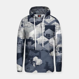 Thumbnail image of geometric square pattern abstract in black and white Hoodie, Live Heroes