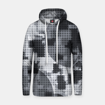 Thumbnail image of geometric circle pattern abstract in black and white Hoodie, Live Heroes