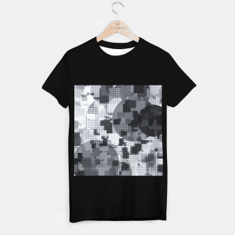 Thumbnail image of geometric circle pattern abstract in black and white T-shirt regular, Live Heroes