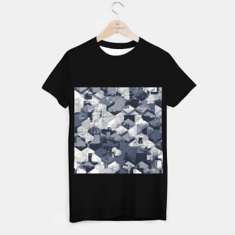 Thumbnail image of geometric square pattern abstract in black and white T-shirt regular, Live Heroes