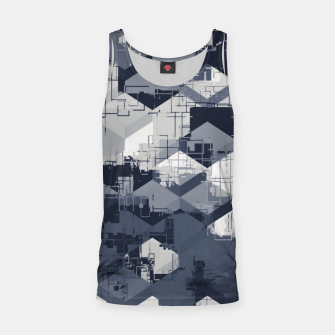 Thumbnail image of geometric square pattern abstract in black and white Tank Top, Live Heroes
