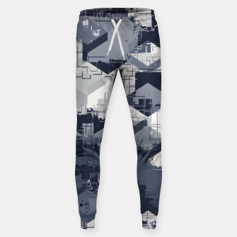 Thumbnail image of geometric square pattern abstract in black and white Sweatpants, Live Heroes