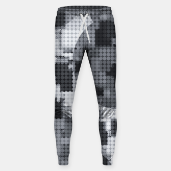 Thumbnail image of geometric circle pattern abstract in black and white Sweatpants, Live Heroes
