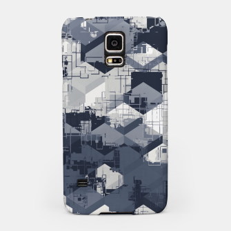 Thumbnail image of geometric square pattern abstract in black and white Samsung Case, Live Heroes
