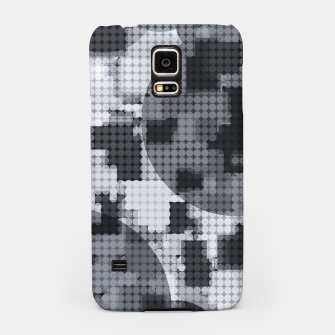 Thumbnail image of geometric circle pattern abstract in black and white Samsung Case, Live Heroes