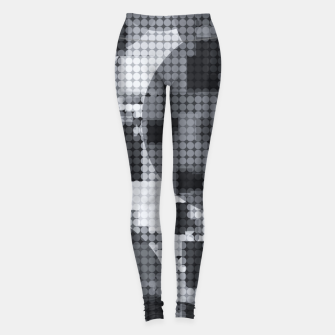 Thumbnail image of geometric circle pattern abstract in black and white Leggings, Live Heroes