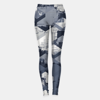 Thumbnail image of geometric square pattern abstract in black and white Leggings, Live Heroes