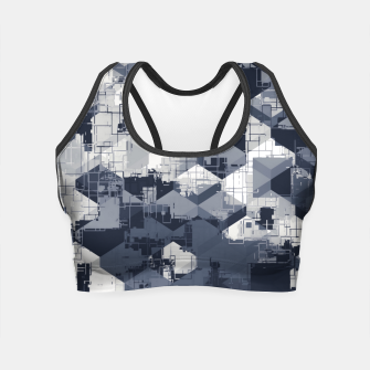 Thumbnail image of geometric square pattern abstract in black and white Crop Top, Live Heroes