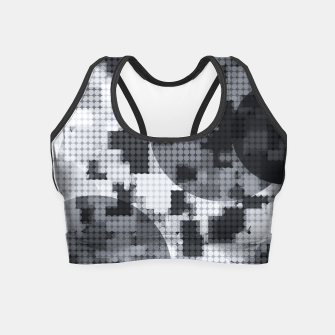 Thumbnail image of geometric circle pattern abstract in black and white Crop Top, Live Heroes