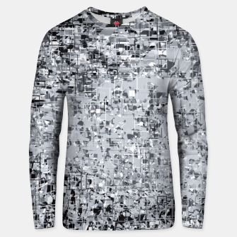 geometric pattern abstract in black and white Unisex sweater thumbnail image