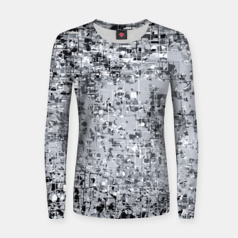 geometric pattern abstract in black and white Women sweater thumbnail image