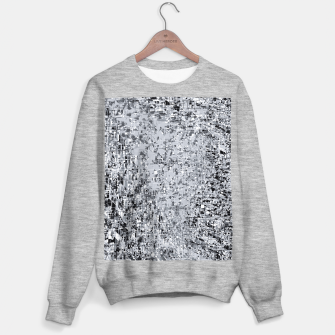 geometric pattern abstract in black and white Sweater regular thumbnail image