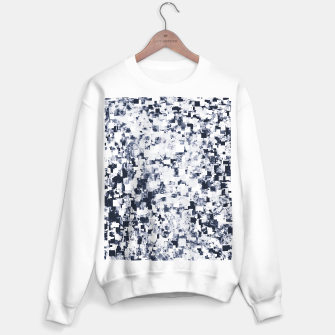 Thumbnail image of geometric square pattern abstract background in black and white Sweater regular, Live Heroes