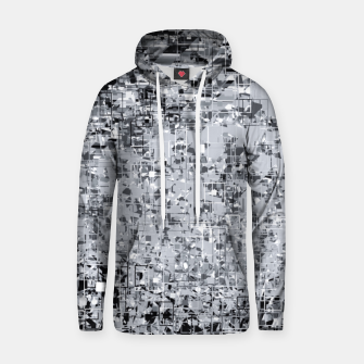 geometric pattern abstract in black and white Hoodie thumbnail image